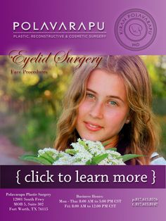 Polavarapu Plastic Surgery Face Procedures Eyelid surgery technically called blepharoplasty is a procedure to remove fatusually along with excess skin and muscle from th. Plastic Surgery Procedures, Eyelid Surgery, Look Older, Tired, How Are You Feeling, Muscle, Fat, How To Remove, Make It Yourself