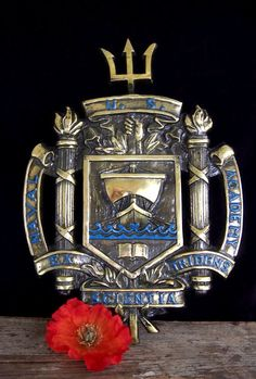 Vintage US Naval Academy brass wall plaque by RoseleinRarities, $220.00