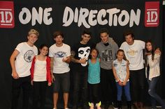 One Direction with fans