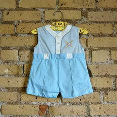 Baby Size 12M One-Piece Romper 1980s by AttysSproutVintage on Etsy