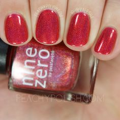 Nine Zero Lacquer Refraction | ROY G BIV Collection | Peachy Polish #red