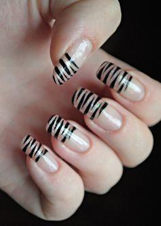 12 Best Tiger Stripe Nails Images On Pinterest Tiger Stripe Nails