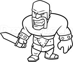how to draw a barbarian