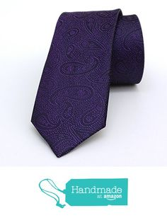 "Purple dotted and paisley men's tie 6 cm (2,36"") DK-633 from Nazo Design… #handmadeatamazon #nazodesign"