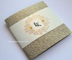 vintage gold and ivory wedding invitation