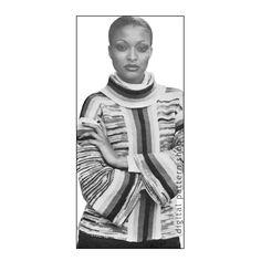 Turtleneck Sweater Knitting Pattern Bell Sleeve Pullover Panel Jumper Instant Download, $3.50