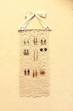 Lace Earring Organizer  on Etsy, $15.00