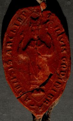 Fig. 3 – Selo de D. Godinho, arcebispo de Braga (ANTT, Sé de Coimbra, 1ª inc., M. 8, nº 39)
