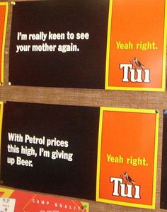 tui yeah right billboards - Google Search Rarotonga Cook Islands, Funny Pics, Funny Pictures, New Zealand Houses, Kiwiana, Funny Moments, Sarcasm, Cloud