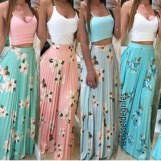 Pin by Alexandra Zeller on Outfits in 2019 Skirt Outfits, Chic Outfits, Trendy Outfits, Dress Skirt, Summer Outfits, Elegant Summer Dresses, Cute Dresses, Beautiful Dresses, Pinterest Fashion