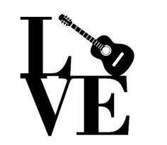 Guitar Love Decal/I Love Guitar Decal/Guitar Player Decal/Guitarist Decal/Custom Guitar Decal/Guitar Vinyl Car Decal/Guitar Music Decal #lundtlettering Check out our Etsy shop at lundtletteringdesign.etsy.com