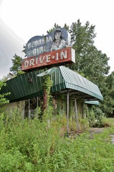 Georgia Girl Drive-In. Not on the same artistic and dramatic level as the abandoned cathedrals, but still interesting.