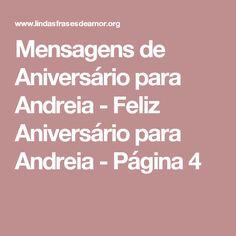 Mensagens de Aniversário para Andreia - Feliz Aniversário para Andreia - Página 4
