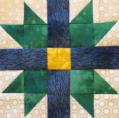 Farmer's Wife Block 14 - Butterfly at the Crossroads