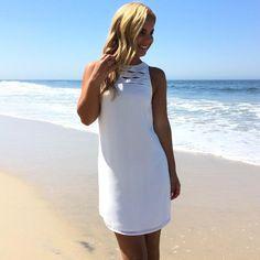 Castaway Shift Dress In White