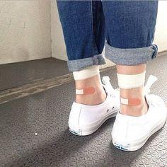 Transparent see through bandage socks, cute socks, fun socks, summer socks