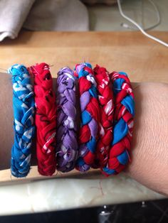 Inspired at the four Brits book festival I went to recently - author Beth Flynn - amazing X bandana friendship bracelets and inspired by Pinterest too X
