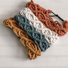 Macrame Headband, Diy Macrame Earrings, Boho Wedding, Wedding Jewelry, Baby Gifts To Make, Yarn Wall Art, Stocking Hanger, Handmade Headbands, Cricut Creations