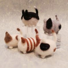 Adorable Needle Felted Kitten Needle Felted by DesignedbyAbble
