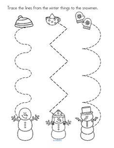 Winter Printables NO PREP for Preschool and Pre-K Distance Learning 95 pages Preschool Writing, Preschool Printables, Preschool Classroom, Preschool Worksheets, Preschool Learning, Kindergarten Activities, Preschool Crafts, Snow Activities, January