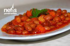 Barbunya Pilaki Yapılışı Turkish Recipes, Ethnic Recipes, Iftar, Fritters, Lunches And Dinners, Chana Masala, No Bake Cake, Entrees, Side Dishes
