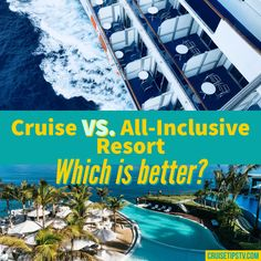 All inclusive resorts provide a great escape from the day to day routine, and are similar to cruise travel in many ways. While this comparison is meant to point out some of the differences between cruise vs all inclusive resort travel, we find that cruises and all inclusives typically have a lot in common.  #cruise #resort All Inclusive Cruises, Hotels And Resorts, Cruise Tips, Cruise Travel, Pool Activities, Swim Up Bar, Water Aerobics, Free Vacations, Budget Travel