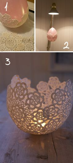 tijelas, bow, feito com renda artesanal e balao de festa de aniversario. DIY