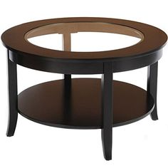 Bay Shore Collection Round Glass Top Coffee Table Espresso 30Inch >>> You can find more details by visiting the image link.Note:It is affiliate link to Amazon.