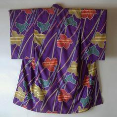 Kimono femme en soie meisen. Années 1940.