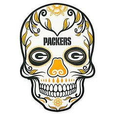 Display your pro football team pride on your curbside, front door, mailbox, home entrance or steps with the NFL Mini Skull Graphic Decal. Durable and dynamic painted-on design is UV resistant and will adhere to a variety of external surfaces. Green Bay Packers Logo, Nfl Green Bay, Outside Fans, Packers Football, Football Memes, Greenbay Packers, Chiefs Football, Football Stickers, Giants Baseball