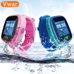 Just $33.18, Buy W68 Child Baby Smartwatch IP67 Swim GPS Touch Phone smart watch SOS Call Location Device Tracker Kids Safe Anti-Lost Monitor