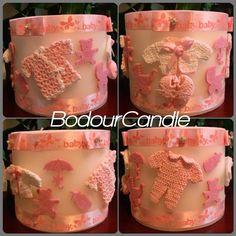 baby girl candle