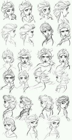 Émotions de la reine des neiges Elsa et Anna
