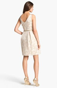 Eliza J Metallic Brocade Tulip Dress available at #Nordstrom
