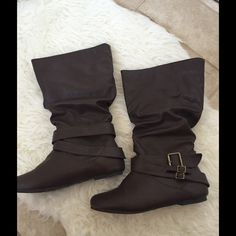 Boots Slouch, wide calf boots Shoes Ankle Boots & Booties