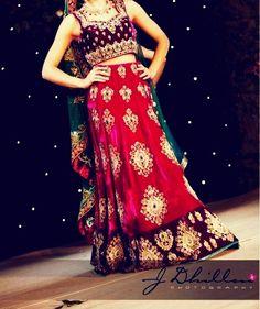 Traditional red wedding attire.