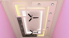 Top 40 Modern False Ceiling Design Ideas of - Engineering Discoveries Latest False Ceiling Designs, Simple False Ceiling Design, Gypsum Ceiling Design, Interior Ceiling Design, House Ceiling Design, Ceiling Design Living Room, False Ceiling Living Room, Ceiling Light Design, Ceiling Ideas