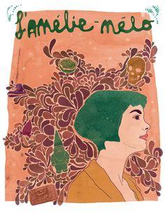 20$ Illustration Amélie Poulain Amelie movie print Le fabuleux destin d'Amélie par Annickg