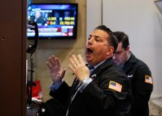 U.S. stocks fell in volatile trading on Tuesday, as a pullback from record highs steepened following the biggest one-day declines for the S&P 500 and Dow in more than six years.
