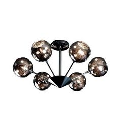 $284, Artcraft Lighting AC116 Nebula Contemporary Semi Flush Mount Ceiling Light In Polished Chrome With Metallic Plated Glassware Shade, entry?