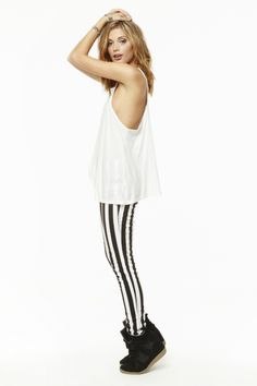 Plunging Racer Tank, Hilight Wedge Sneaker