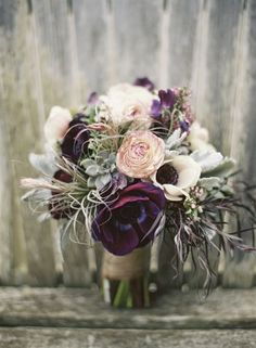 Succulent and anemone bridal bouquet - Wedding Inspirations