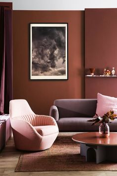 Colour drenching is a key interior trend this spring. To colour drench a room is to take one colour and use tones and shades of it across lots of surfaces. Terracotta, Industrial Office Chairs, Devine Design, Lounge, Warm Colors, Modern Chairs, Decoration, Colorful Interiors, Decorating Your Home