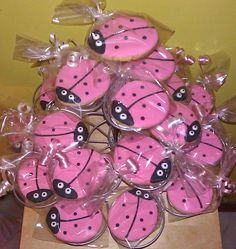 Pink Ladybug Cookies One Dozen (Bagged). $17.50, via Etsy.