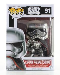 Star Wars Captain Phasma Chrome POP Smugglers Bounty Exclusive 91 >>> See this great product.Note:It is affiliate link to Amazon. #cool