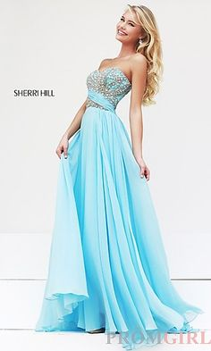 Beaded Strapless Evening Gown by Sherri Hill 3914 at PromGirl.com  #prom #dress