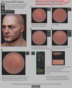 (Tutorial) Skin Texturing, Skin Pore Creases (2013), Chris Pollitt on ArtStation at https://www.artstation.com/artwork/K11zW