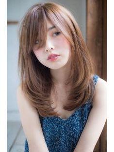 Pin on 髪型 Medium Hair Cuts, Long Hair Cuts, Medium Hair Styles, Short Hair Styles, Medium Asian Hair, Thin Hair, Haircuts For Long Hair, Straight Hairstyles, Korean Hairstyles Women