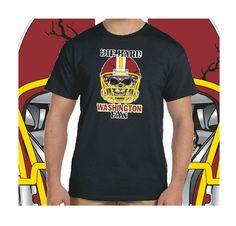 Washington+Football+Die+Hard+Fan+Black+T-Shirt+100%+Cotton