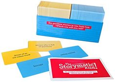 The Storymatic Kids -- Hundreds of Cards -- Tell Stories, Play Games, Make Art, and More -- Includes Booklet with Prompts, Games, and Activities -- Made in USA The Storymatic http://www.amazon.com/dp/B0087GB08U/ref=cm_sw_r_pi_dp_IonJub0PQT1ZF